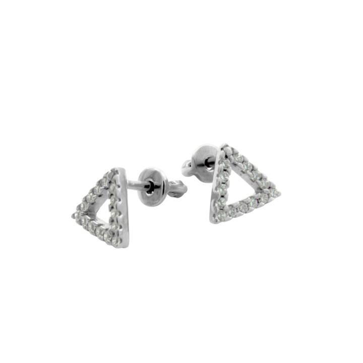 """Серьги 30194 """"Triangle"""" Avec Zircon"""