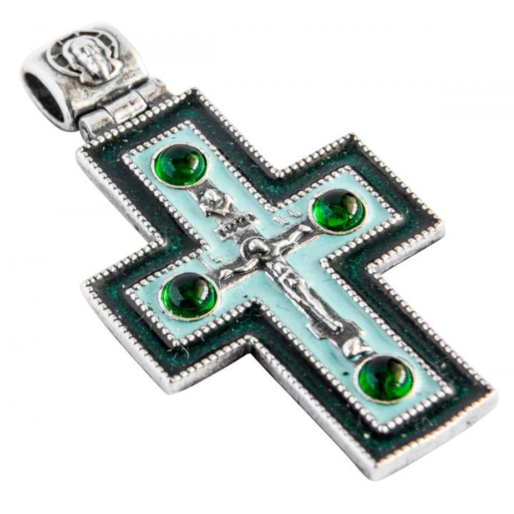 Крест с эмалью 40414