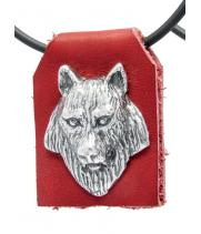 """Подвеска на кожанной основе 40417 """"Волк"""""""